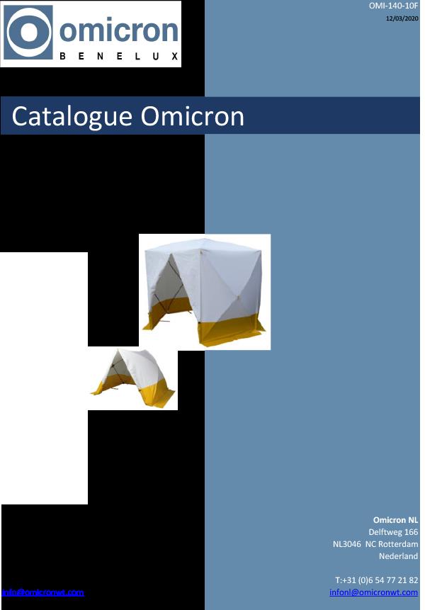 Catalogue tentes à montage rapide